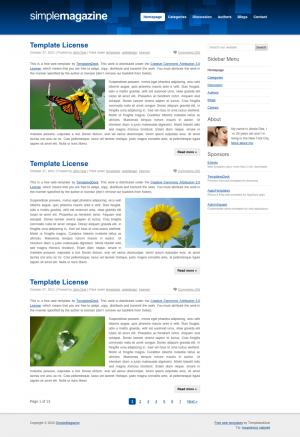 HTML-шаблон для сайта -SimpleMagazine