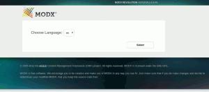 Выбор языка установщика в MODX Revo Traditional