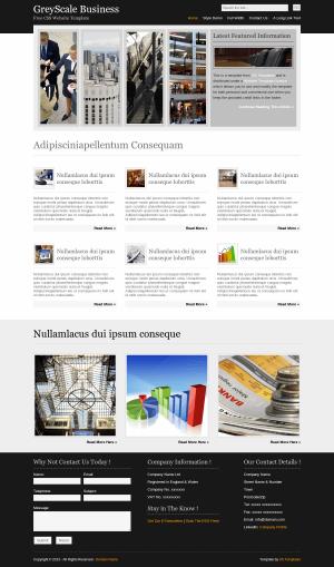 HTML CSS шаблон GreyScale Business