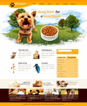 CSS шаблон Pet Shop
