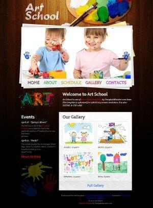 HTML5 шаблон Art-School