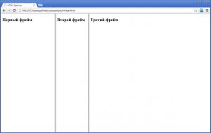 HTML фреймы - теги Frame и Frameset