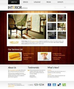 HTML 5 шаблон Interio