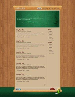 HTML5 шаблон Memoire