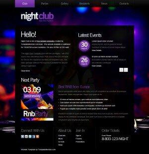 HTML5 шаблон Night-Club