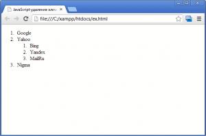 Нумерованные списки в HTML