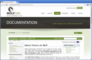 Сборник тем для админки Wolf CMS