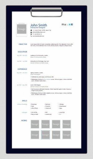 HTML шаблон Resume