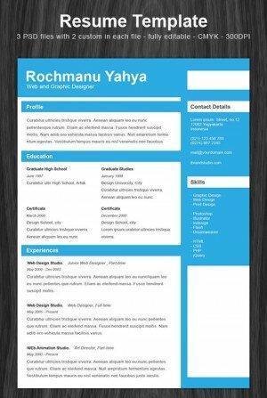 HTML шаблон Resume Template