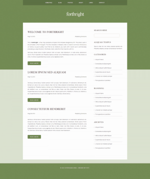 HTML шаблон для сайта Forthright