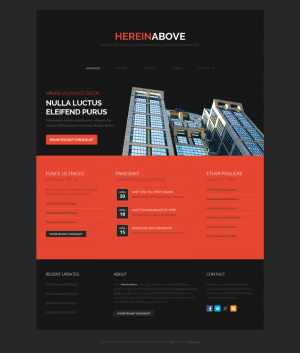 HTML шаблон для сайта HereinAbove