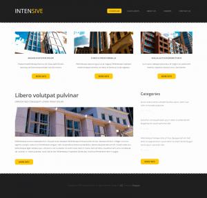HTML шаблон для сайта Intensive