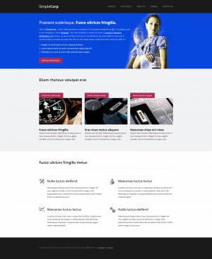 HTML шаблон для сайта SimpleCorp