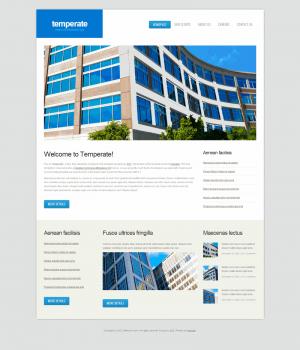 HTML шаблон для сайта Temperate