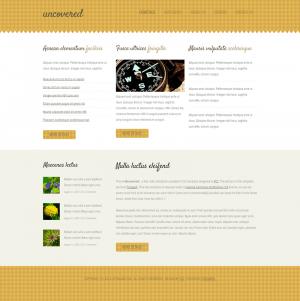 HTML шаблон для сайта Uncovered