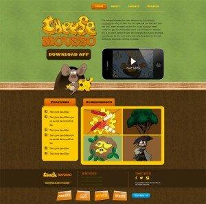 Готовые шаблоны сайтов - Cheese Mousso - главная страница