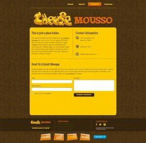 Готовые шаблоны сайтов - Cheese Mousso - контактная форма