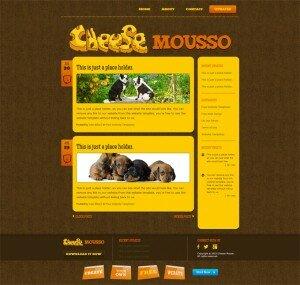 Готовые шаблоны сайтов - Cheese Mousso - рубрика блога