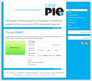 PIE - progressive Internet Explorer
