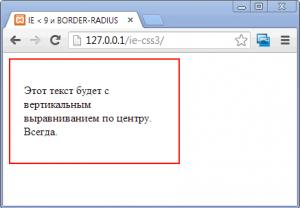 Позиционирование в CSS - текст по вертикали по центру