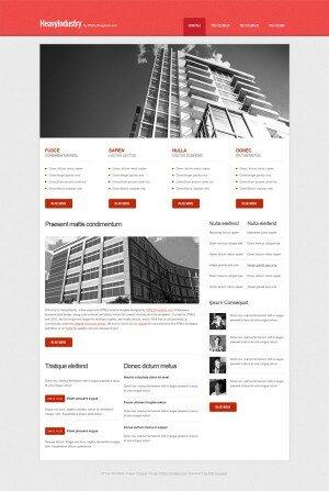 HTML шаблон HeavyIndustry