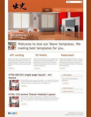 HTML шаблон Mono