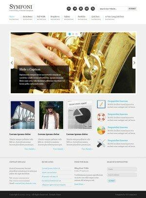 HTML шаблон Symfoni