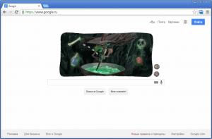 Google - хэллоуинский дудл - скриншот 2