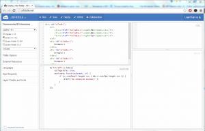 JSFIDDLE - подключение фреймворков JS